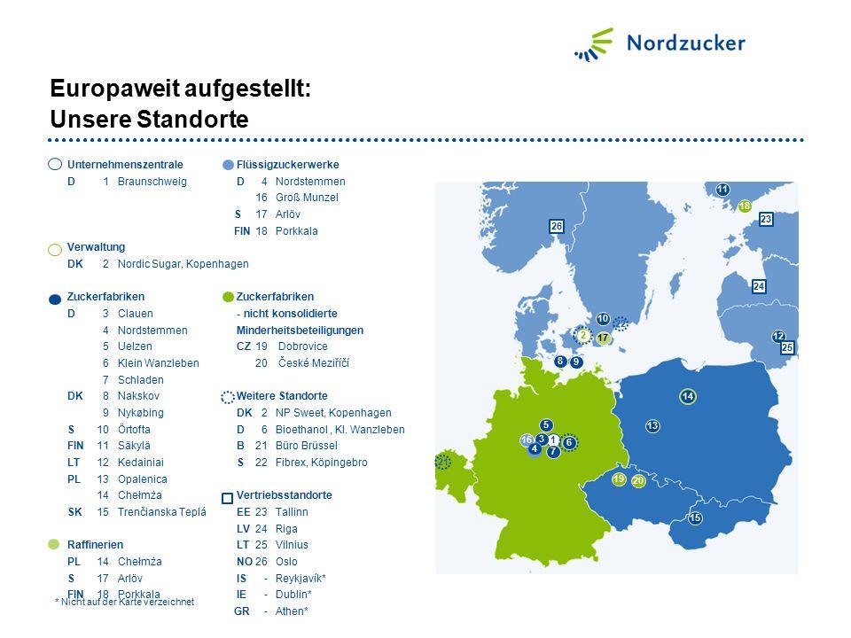 Europaweit aufgestellt: Unsere Standorte