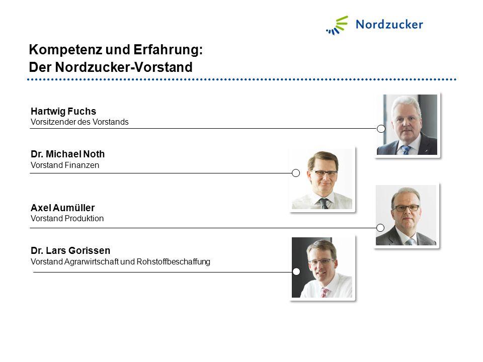 Kompetenz und Erfahrung: Der Nordzucker-Vorstand