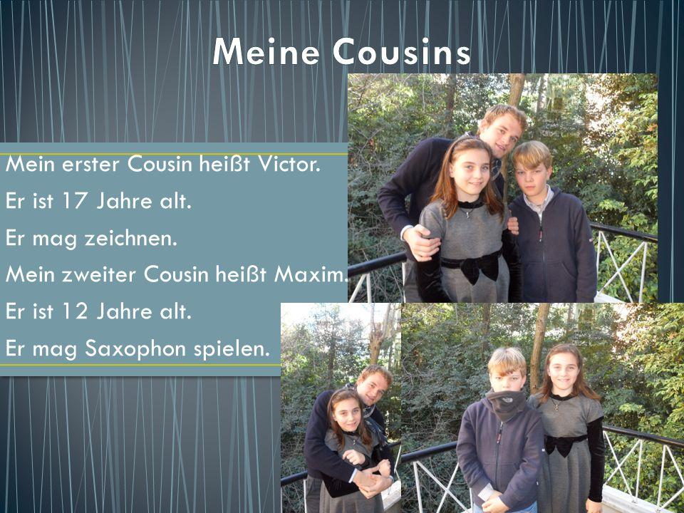 Meine Cousins Mein erster Cousin heißt Victor. Er ist 17 Jahre alt.