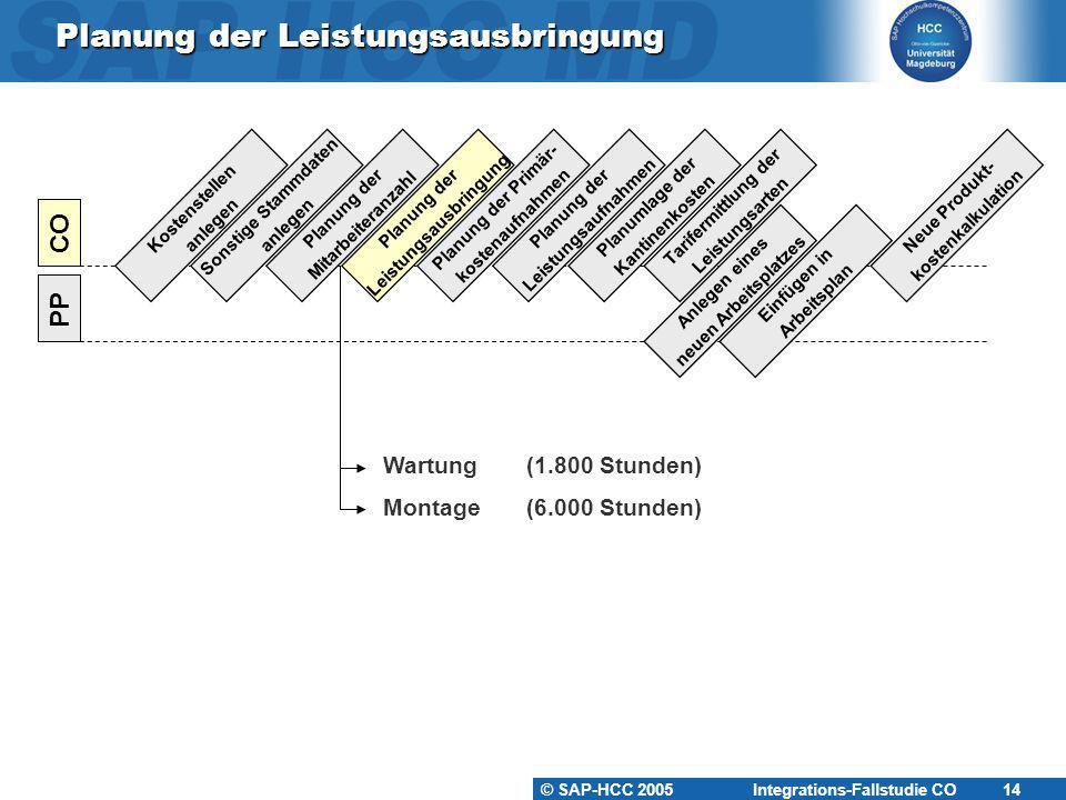 Planung der Leistungsausbringung