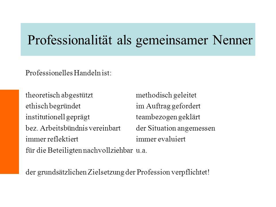 Professionalität als gemeinsamer Nenner