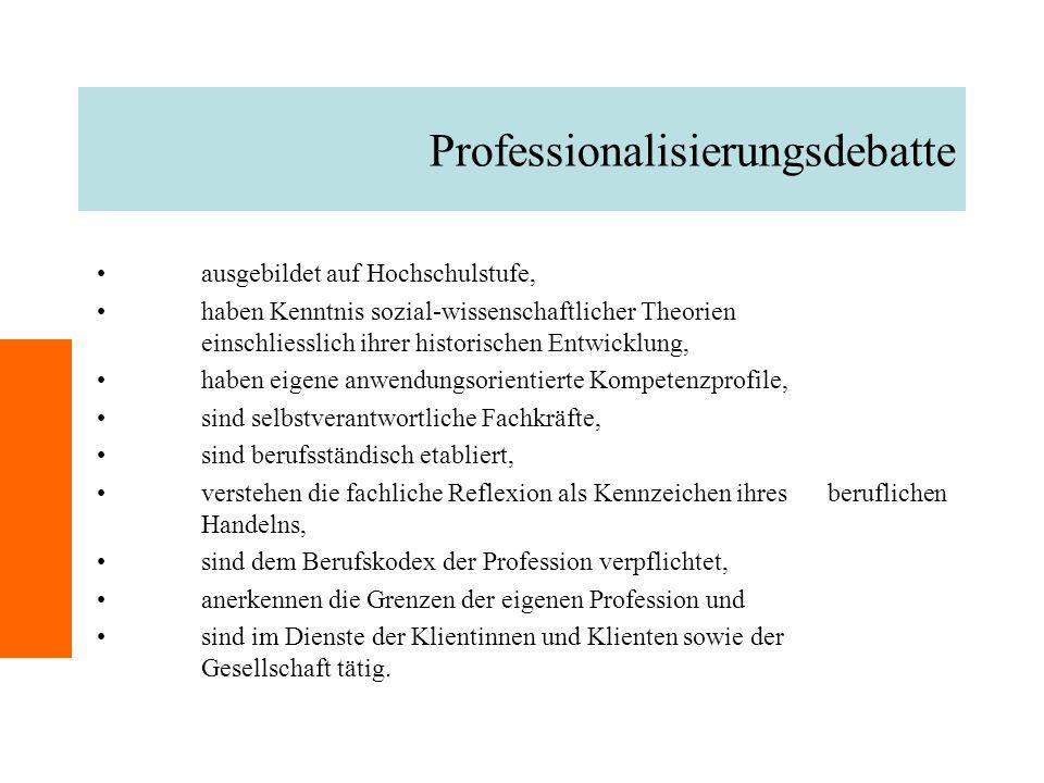 Professionalisierungsdebatte