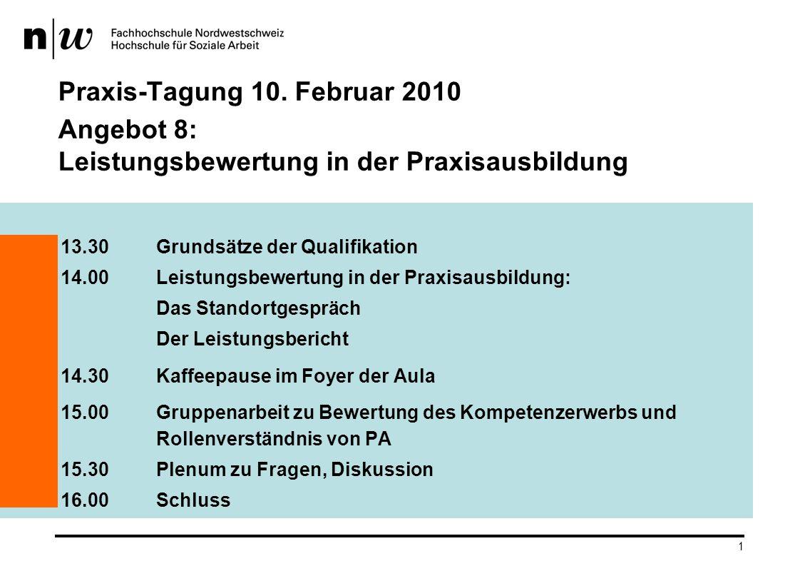 Praxis-Tagung 10. Februar 2010