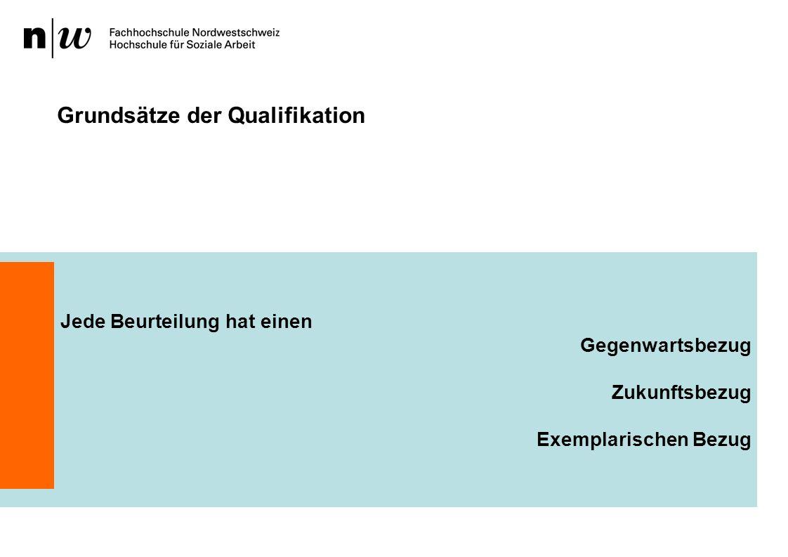 Grundsätze der Qualifikation