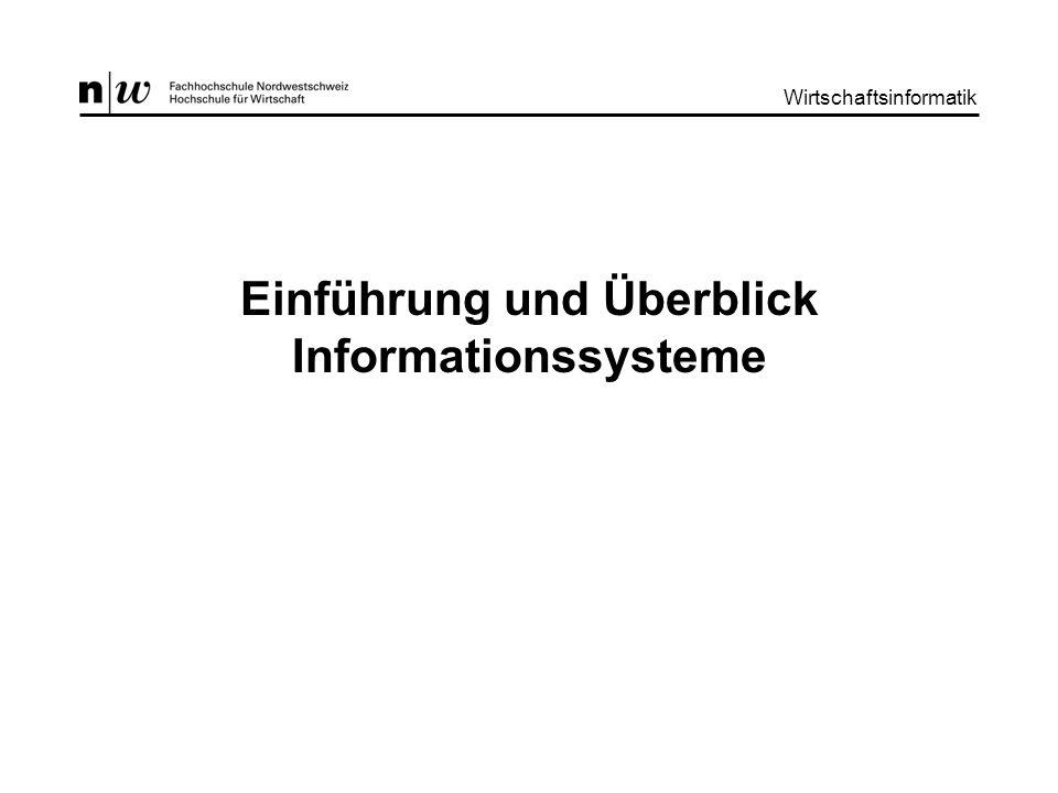 Einführung und Überblick Informationssysteme