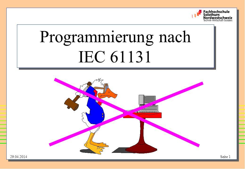 Programmierung nach IEC 61131