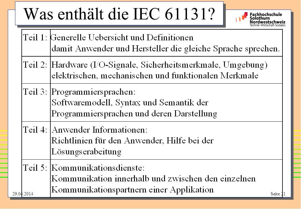 Was enthält die IEC 61131