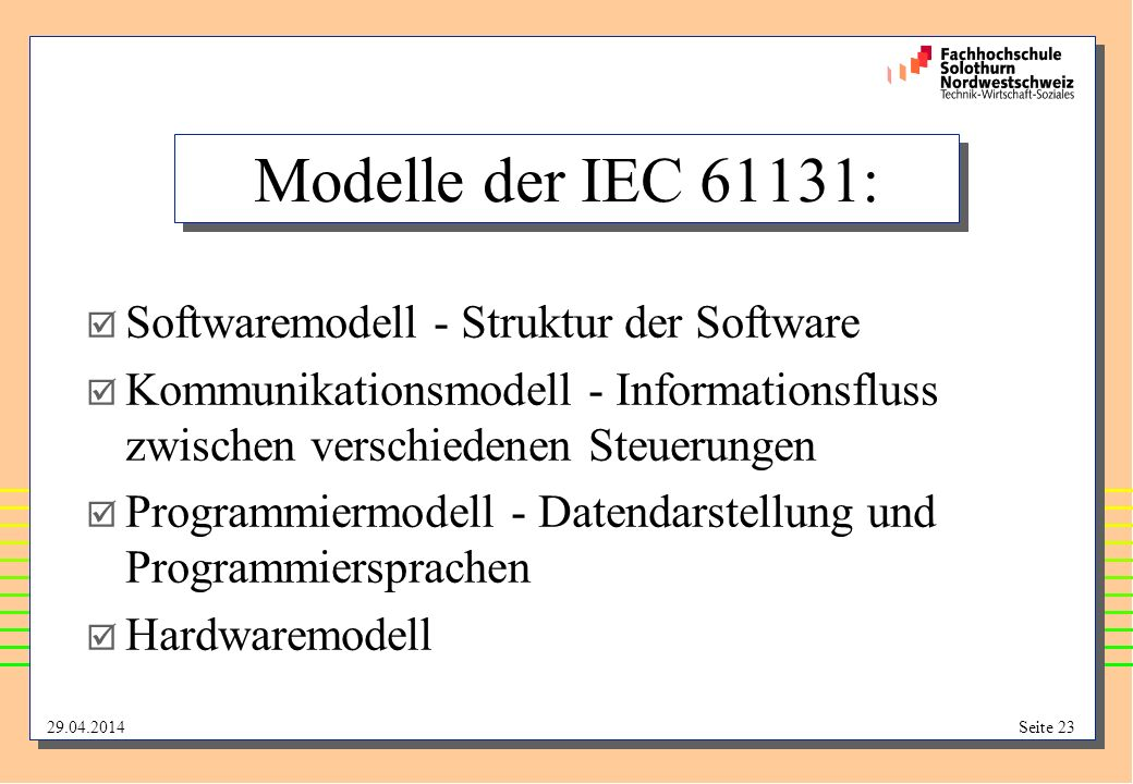 Modelle der IEC 61131: Softwaremodell - Struktur der Software