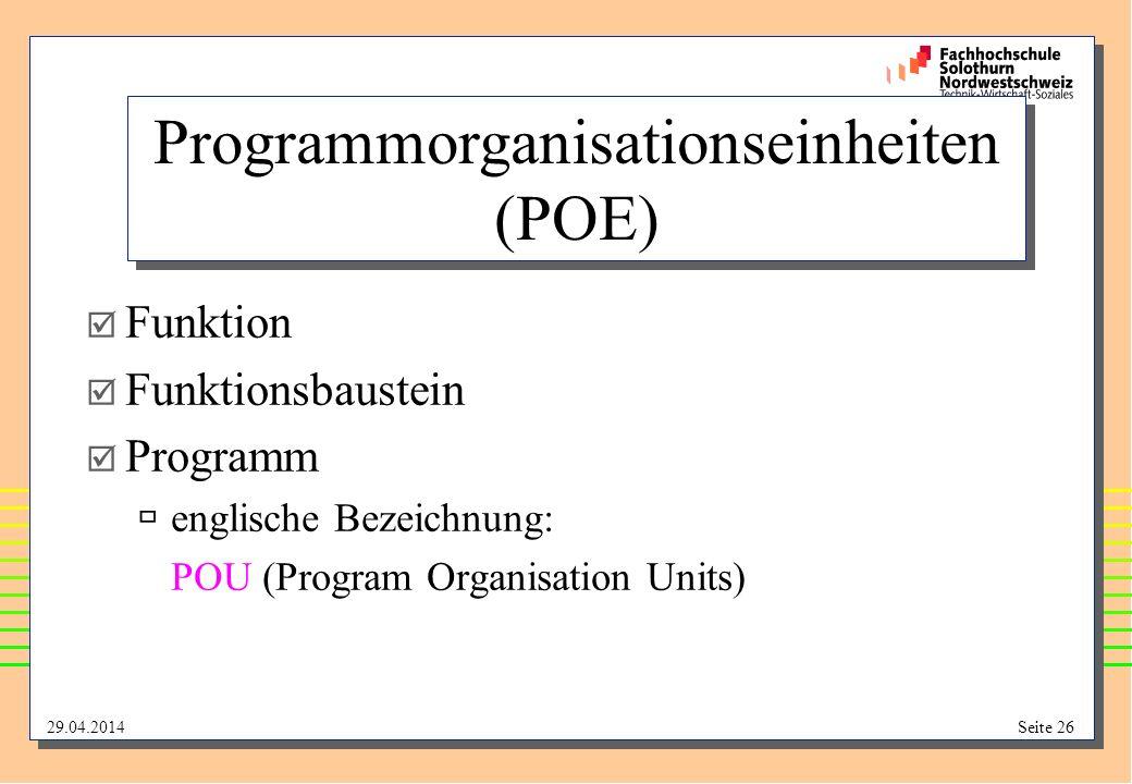 Programmorganisationseinheiten (POE)