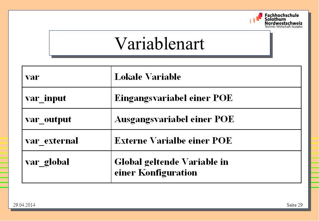 Variablenart
