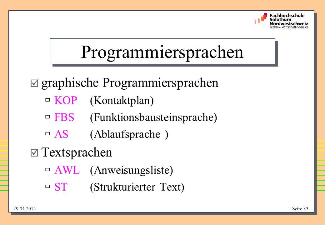 Programmiersprachen graphische Programmiersprachen Textsprachen