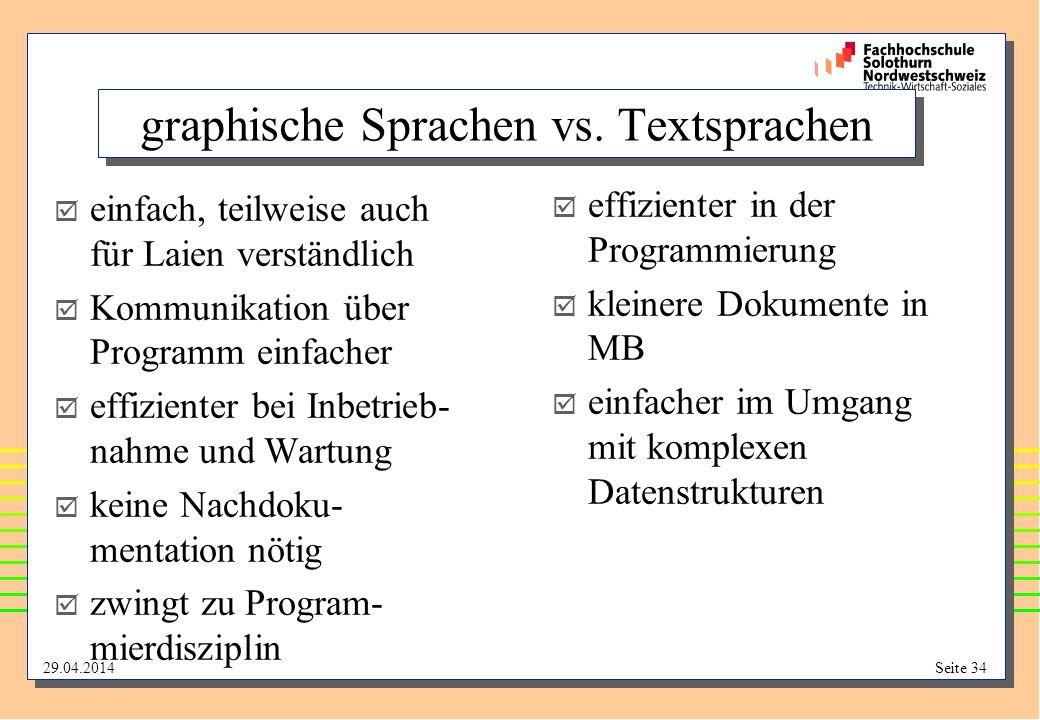 graphische Sprachen vs. Textsprachen