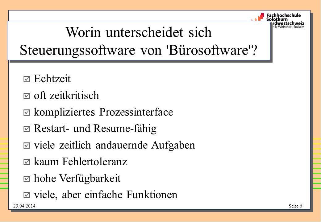 Worin unterscheidet sich Steuerungssoftware von Bürosoftware