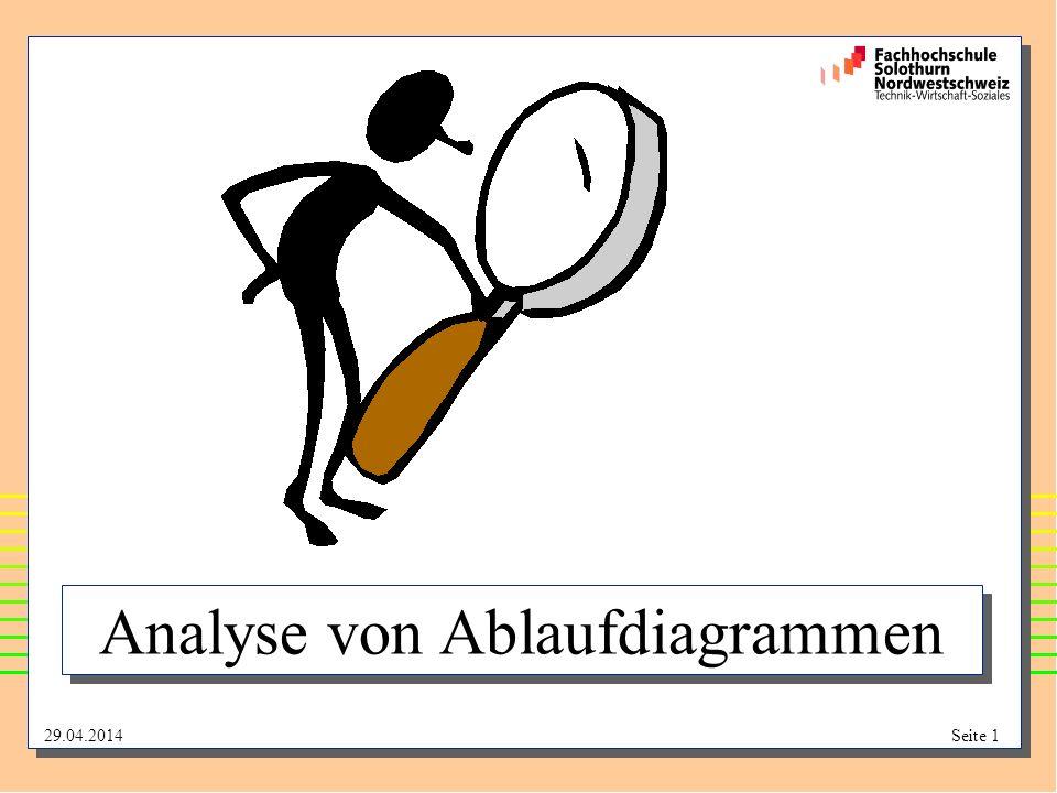 Analyse von Ablaufdiagrammen