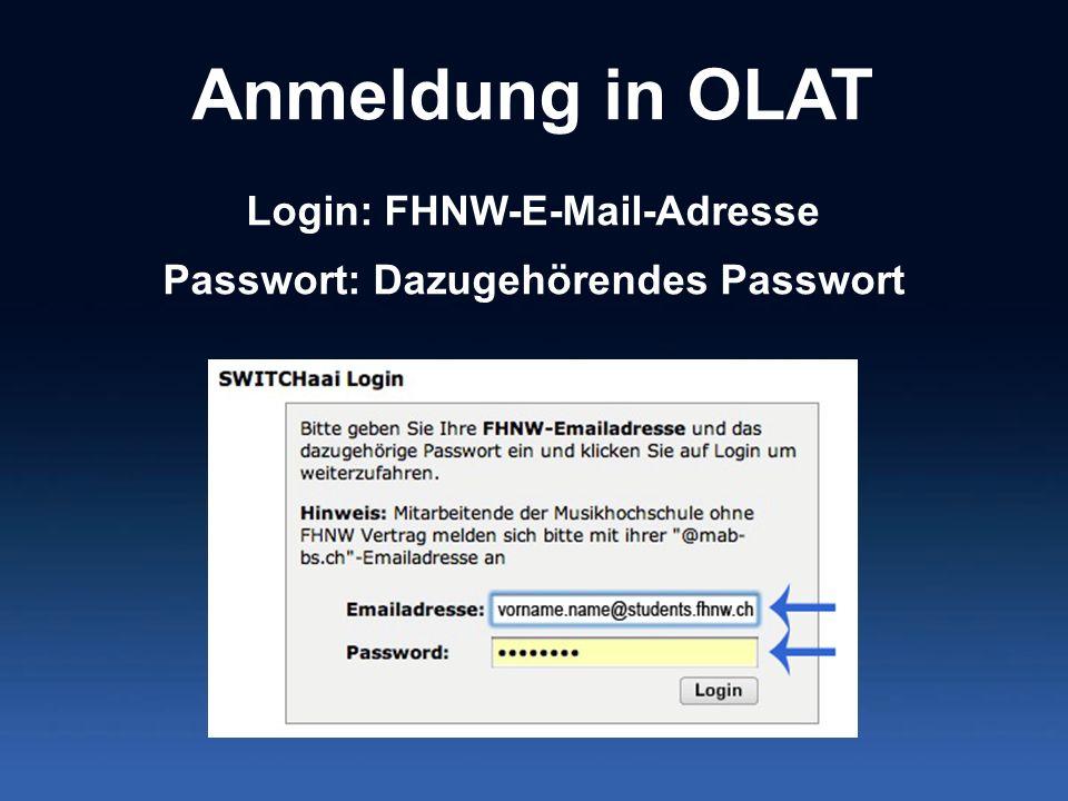 Login: FHNW-E-Mail-Adresse Passwort: Dazugehörendes Passwort