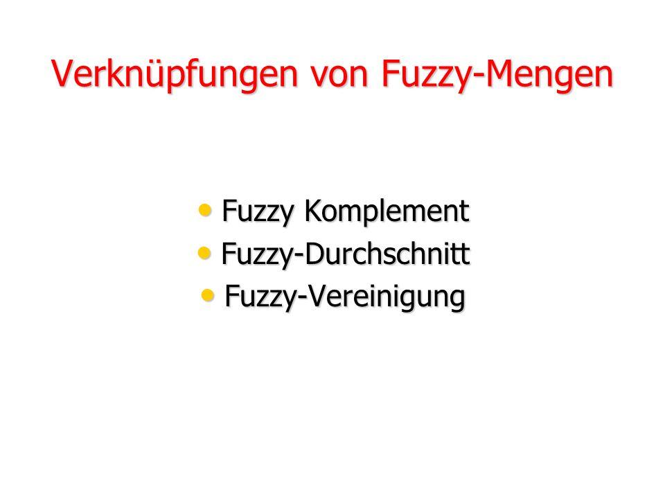 Verknüpfungen von Fuzzy-Mengen