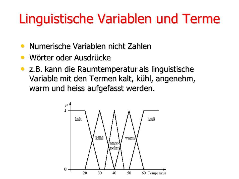 Linguistische Variablen und Terme