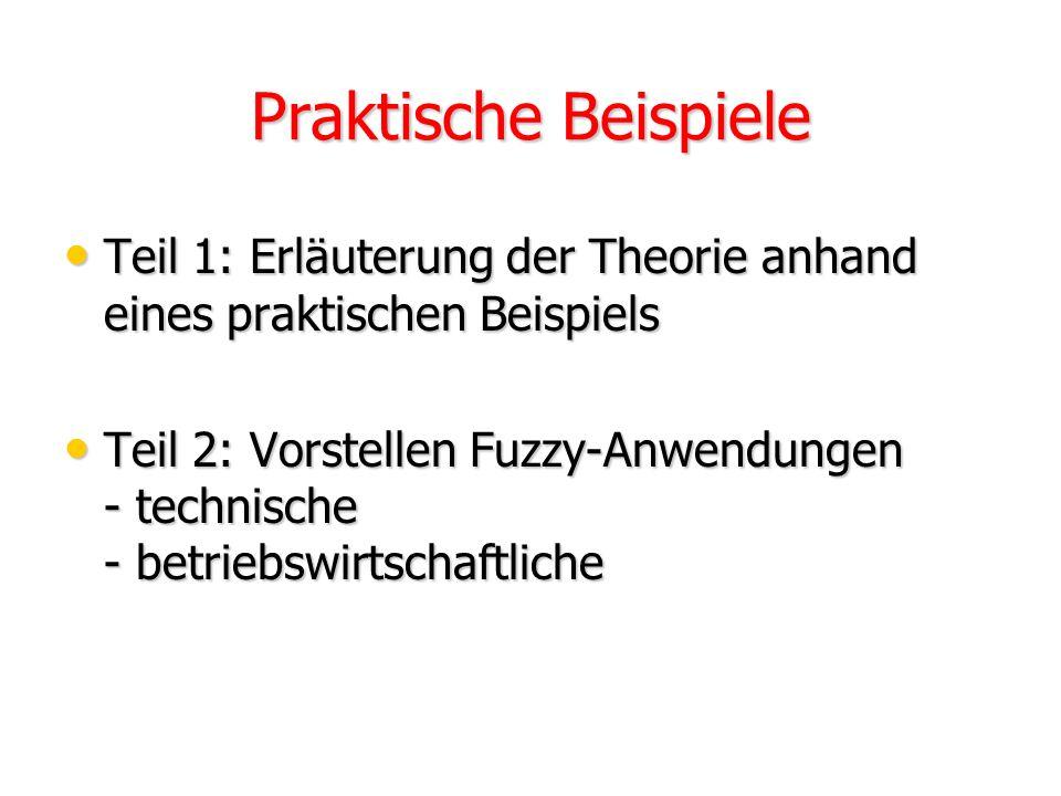 Praktische Beispiele Teil 1: Erläuterung der Theorie anhand eines praktischen Beispiels.