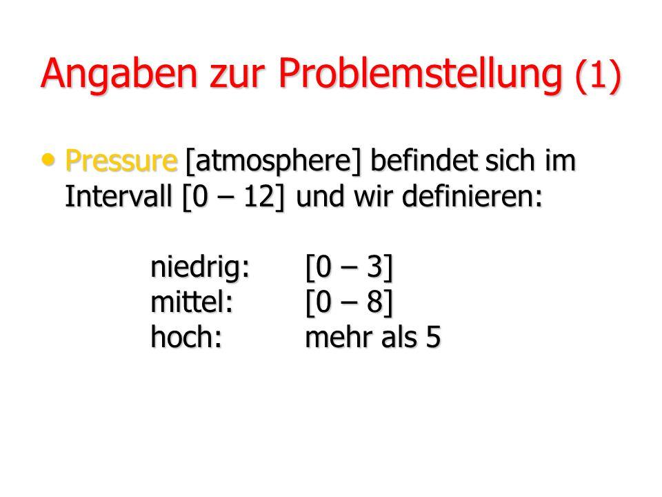 Angaben zur Problemstellung (1)