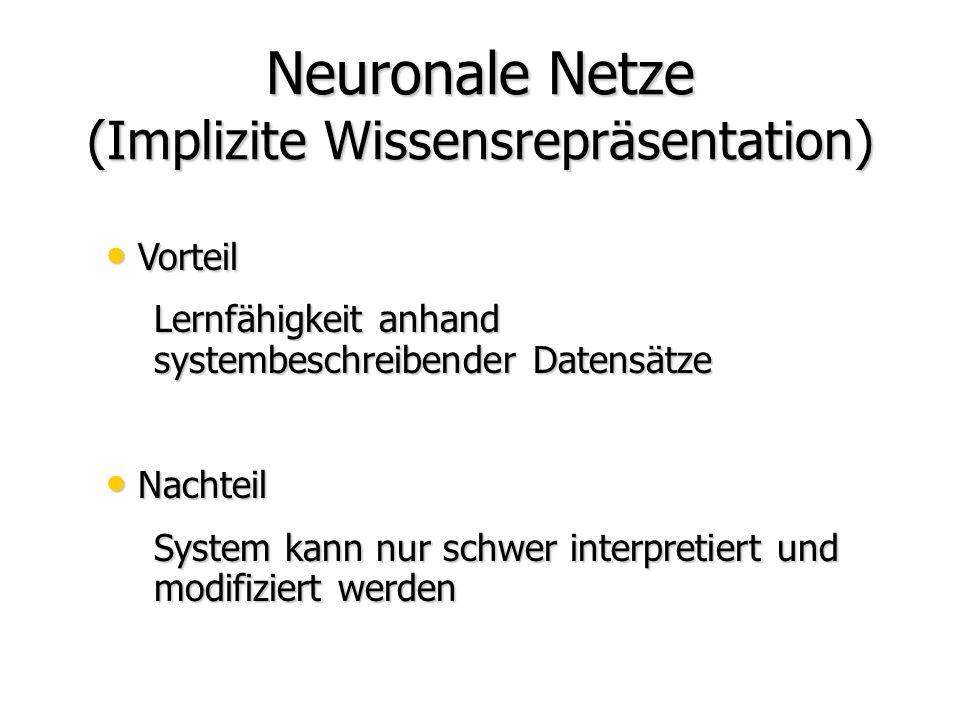 Neuronale Netze (Implizite Wissensrepräsentation)