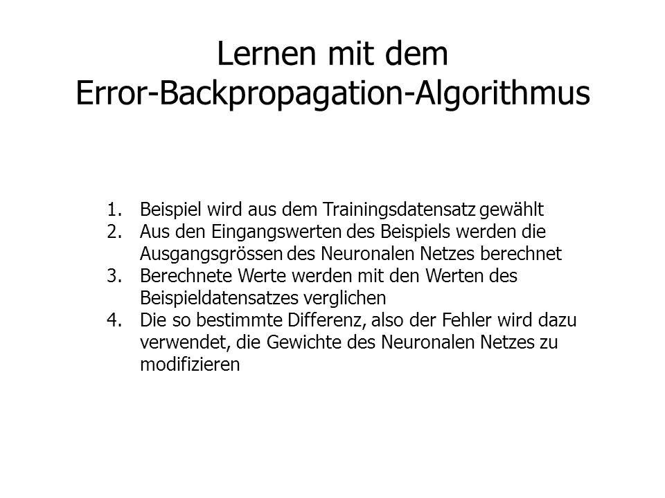 Lernen mit dem Error-Backpropagation-Algorithmus