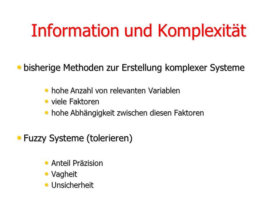 Information und Komplexität