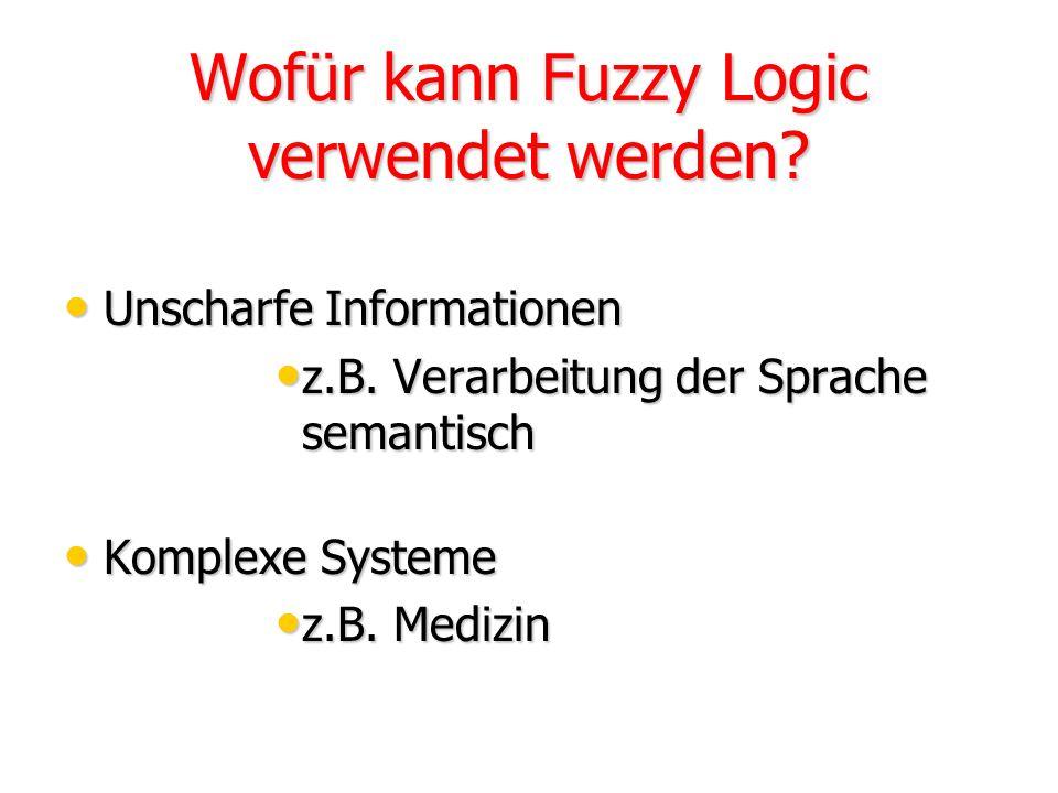 Wofür kann Fuzzy Logic verwendet werden