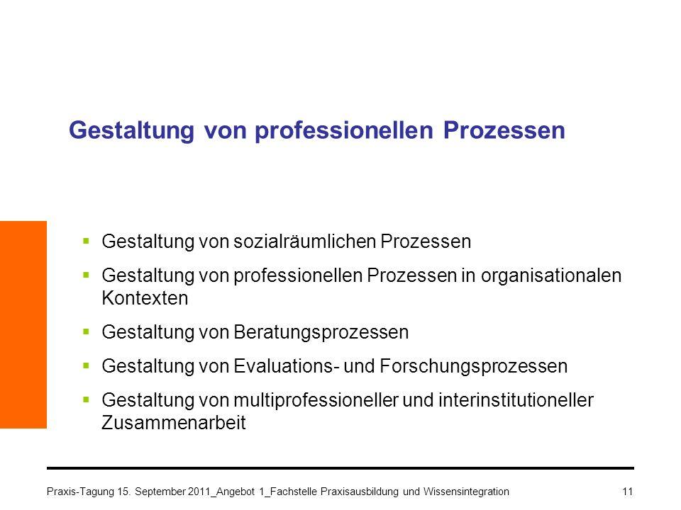 Gestaltung von professionellen Prozessen