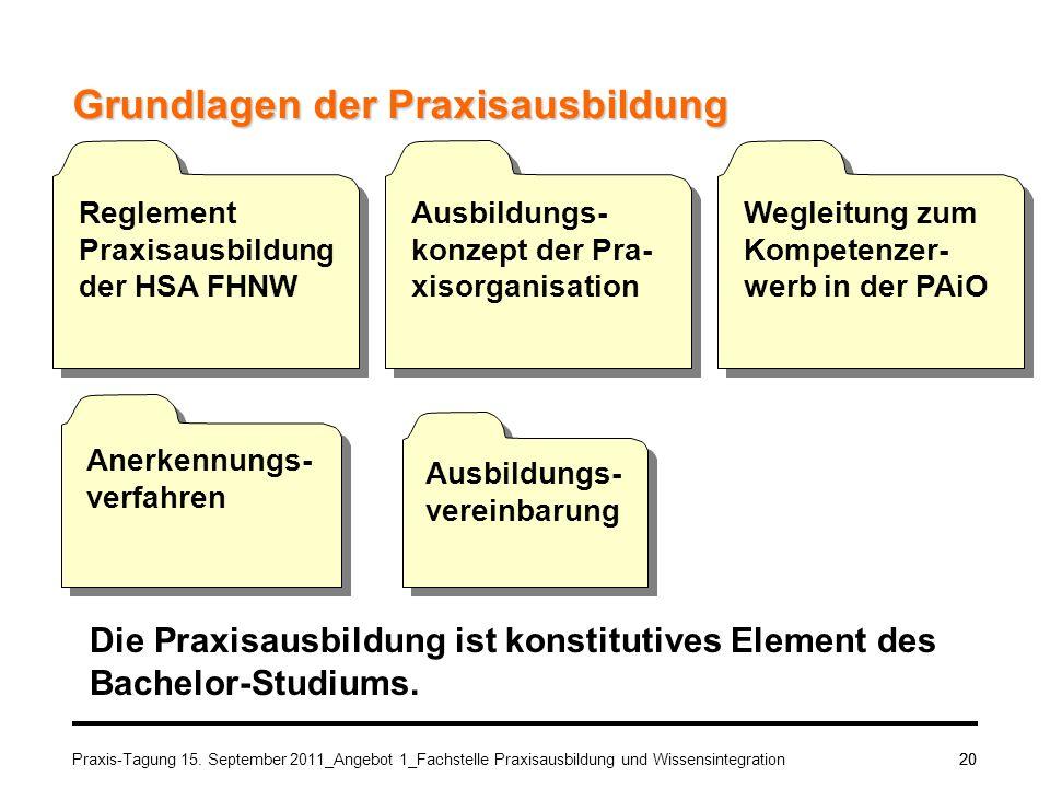 Grundlagen der Praxisausbildung