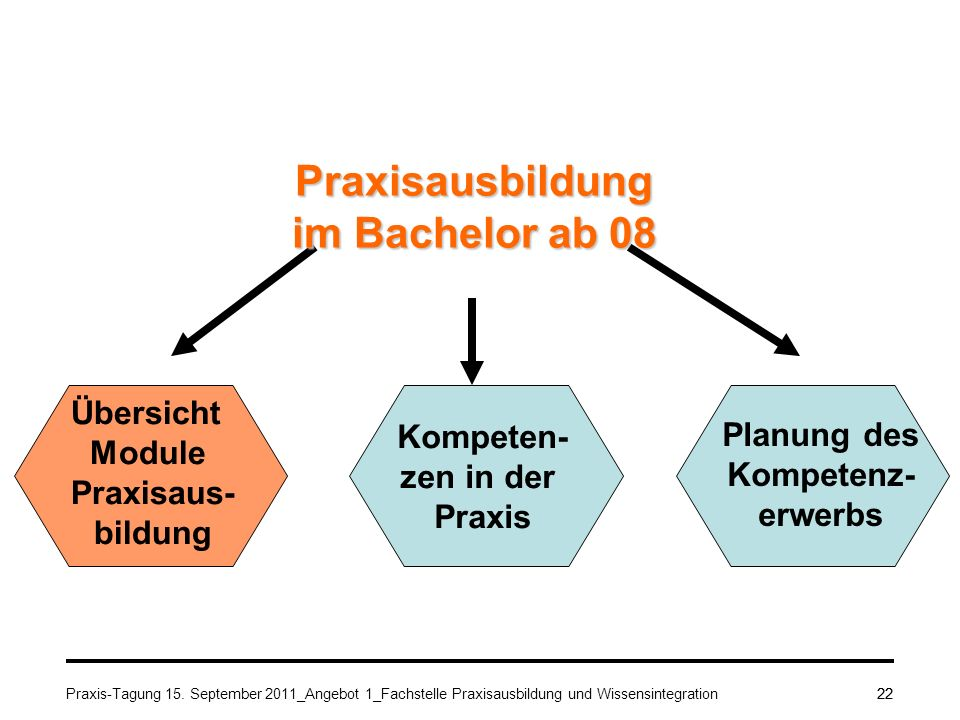 Praxisausbildung im Bachelor ab 08