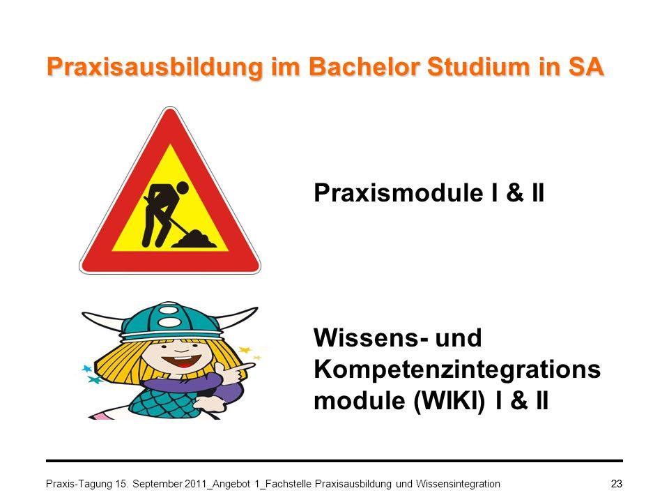 Praxisausbildung im Bachelor Studium in SA