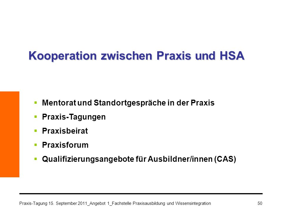 Kooperation zwischen Praxis und HSA