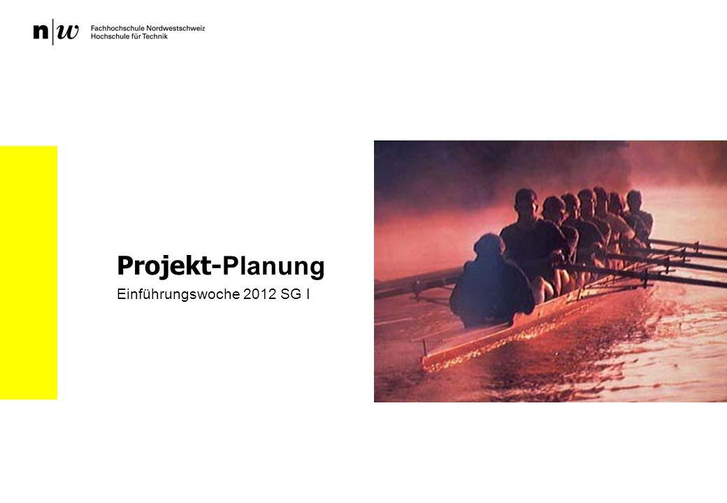 Projekt-Planung Einführungswoche 2012 SG I