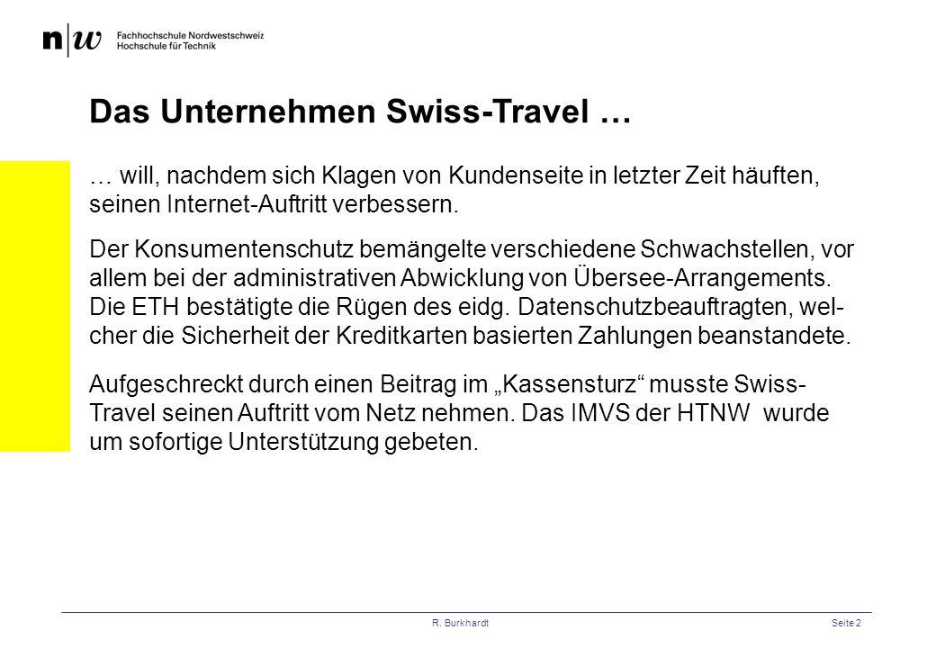 Das Unternehmen Swiss-Travel …