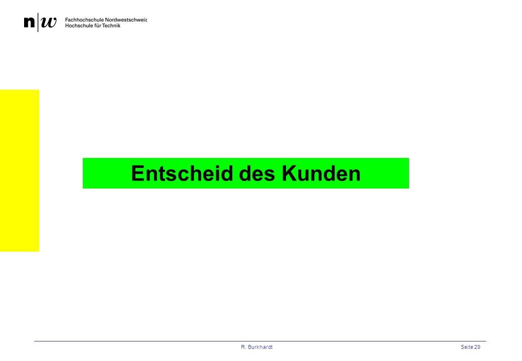 Entscheid des Kunden R. Burkhardt