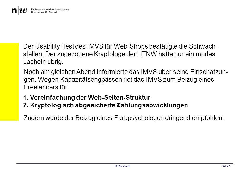 1. Vereinfachung der Web-Seiten-Struktur