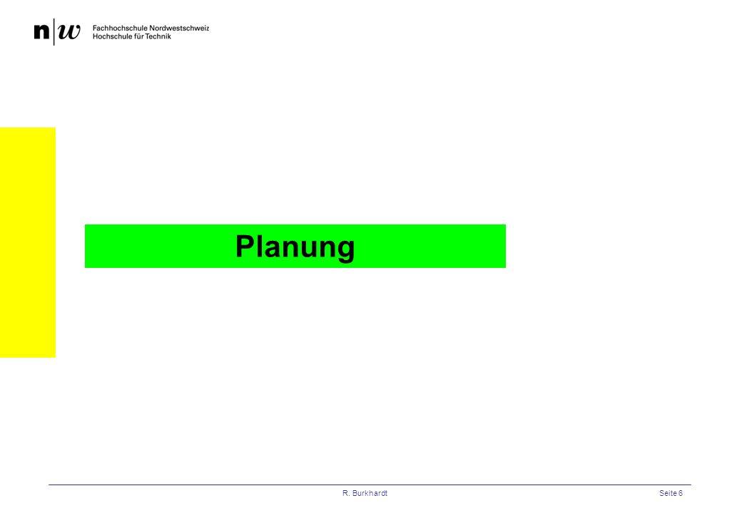 Planung R. Burkhardt