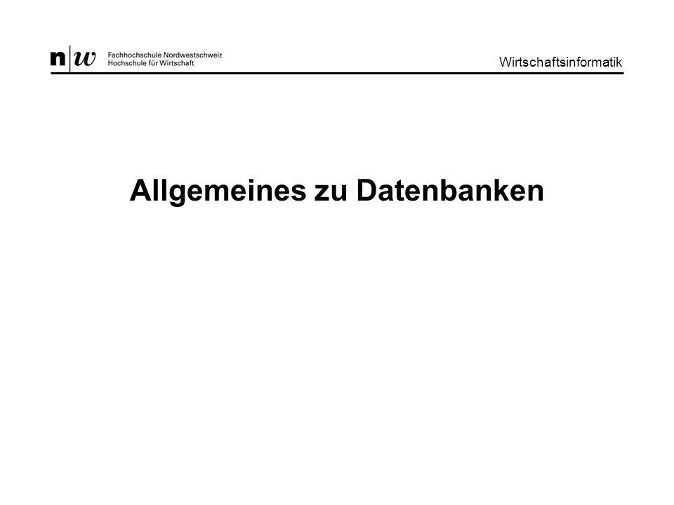 Allgemeines zu Datenbanken