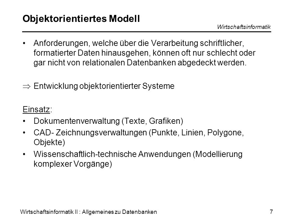 Objektorientiertes Modell