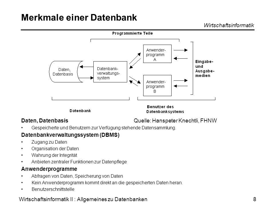 Merkmale einer Datenbank