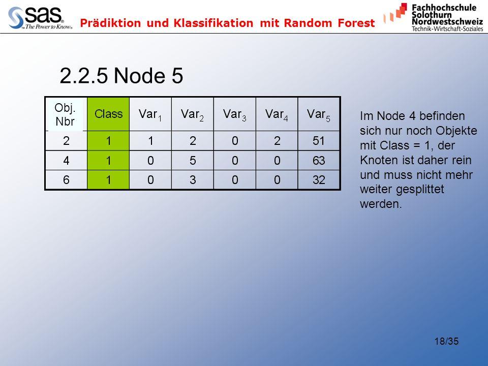 2.2.5 Node 5 Im Node 4 befinden sich nur noch Objekte