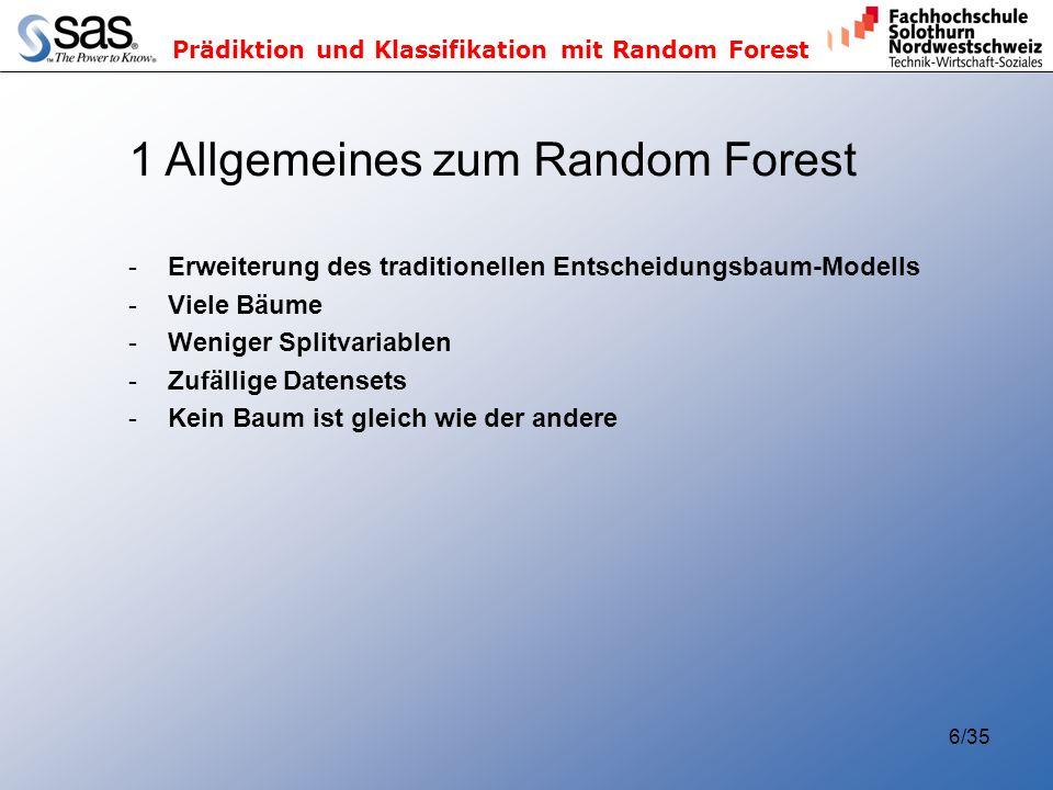 1 Allgemeines zum Random Forest