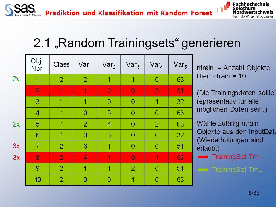 "2.1 ""Random Trainingsets generieren"