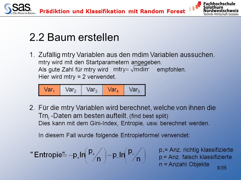 2.2 Baum erstellen