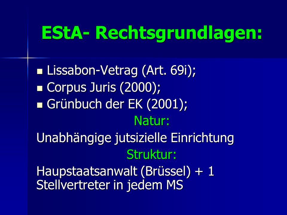 EStA- Rechtsgrundlagen: