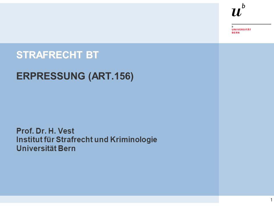 STRAFRECHT BT ERPRESSUNG (ART.156)