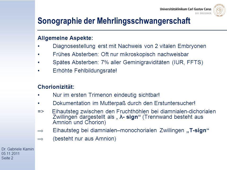Sonographie der Mehrlingsschwangerschaft