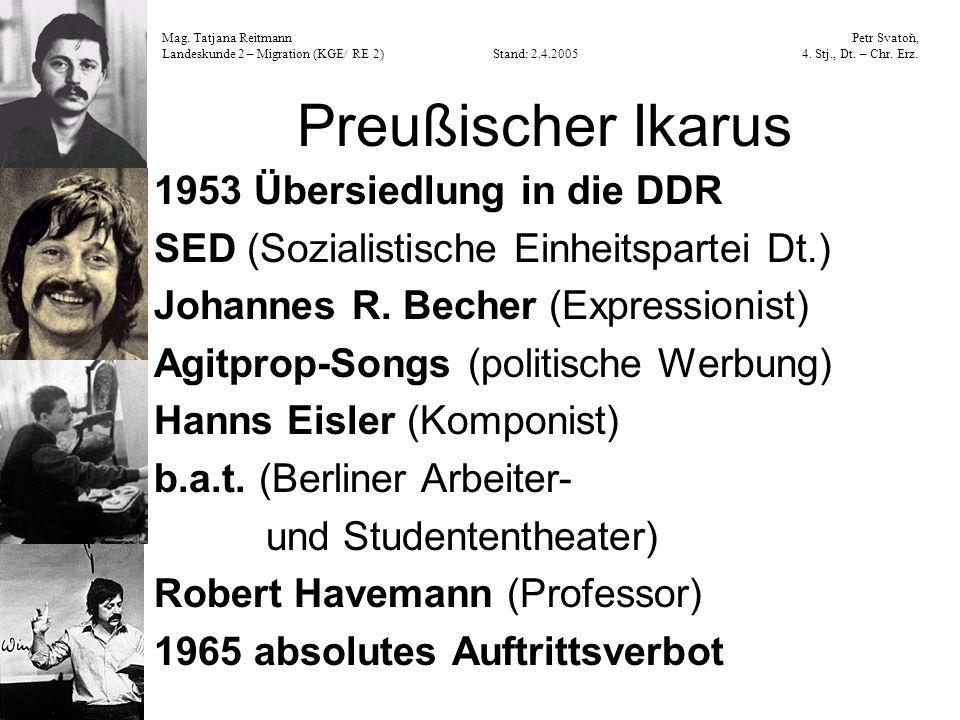 Preußischer Ikarus 1953 Übersiedlung in die DDR