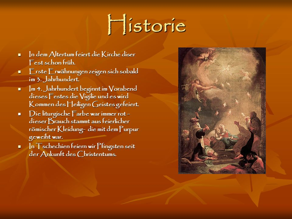 Historie In dem Altertum feiert die Kirche diser Fest schon früh.