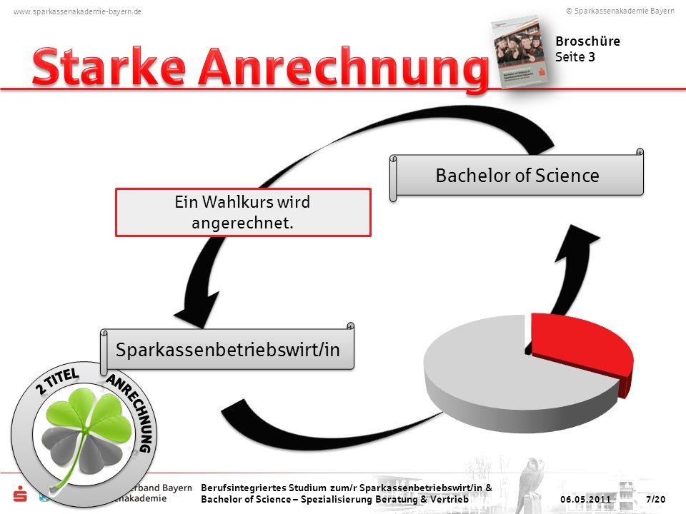 Starke Anrechnung Bachelor of Science Sparkassenbetriebswirt/in